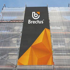 Mesh Banner på stilas fra Brectus