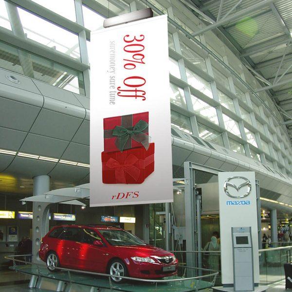 Fjernstyrt Banneroppheng bilforretning