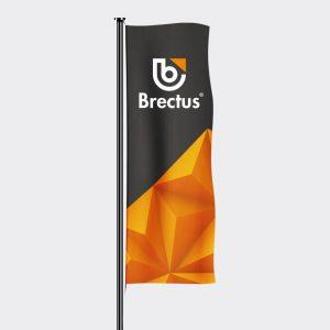 Flagg stående med trykk fra Brectus