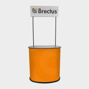 Messebord Oval med logotopp fra Brectus