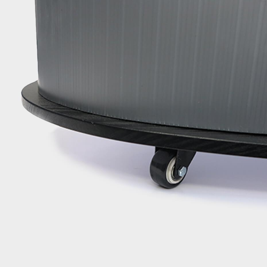 Messebord Oval med logotopp fra Brectus 4