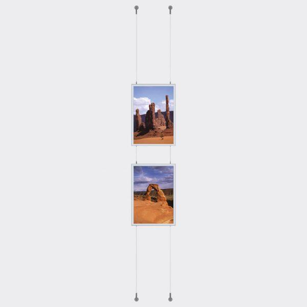 Plakatramme Wire Tosidig referanse 2 rammer