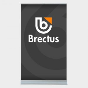 Brectus Rollup Messevegg Tosidig
