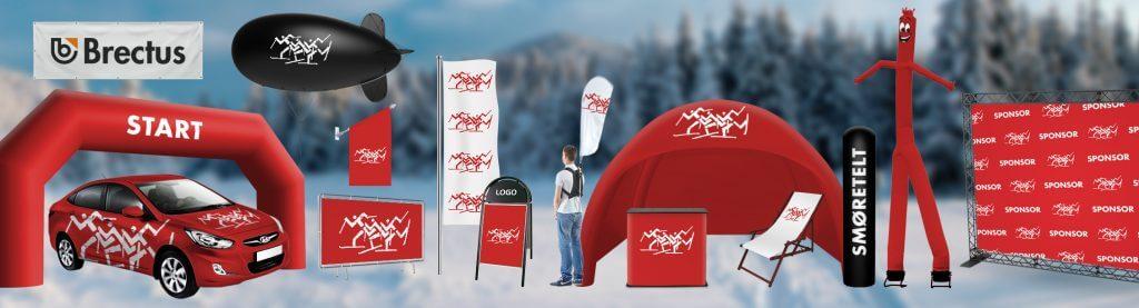 Skistadtion Brectus Arena Reklame