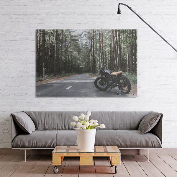 Print på akryl - Motiv Motorsykkel