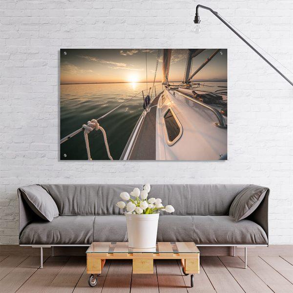 Print på akryl - Motiv Båt