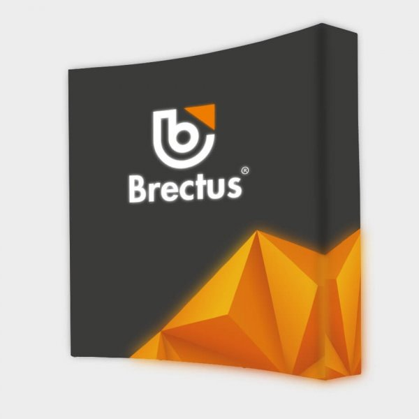 Messevegg Pop-up buet LED fra Brectus