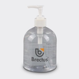 500ml Antibakteriell håndrens i pumpeflaske med logo fra Brectus